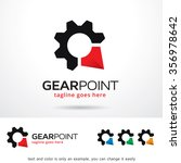 gear point logo template design ...