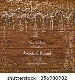 unique vector wedding cards... | Shutterstock .eps vector #356980982