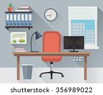 modern interior office... | Shutterstock . vector #356989022