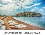 sveti stefan hotel island and...   Shutterstock . vector #356997626