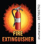 fire extinguisher design is an... | Shutterstock .eps vector #357003752