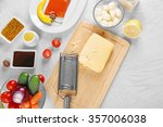 kitchen utensils and... | Shutterstock . vector #357006038