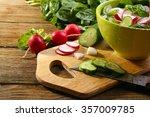 Fresh Vegetable Salad On Table...