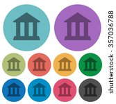 color bank flat icon set on...