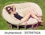 beautiful brown hair woman... | Shutterstock . vector #357047426