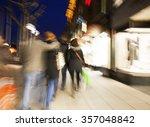 shopping crowd walking on... | Shutterstock . vector #357048842
