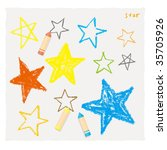 the star of the crayon | Shutterstock .eps vector #35705926