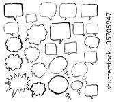 dialog bubbles vector | Shutterstock .eps vector #35705947