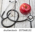 medical stethoscope with an... | Shutterstock . vector #357068132