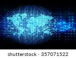 dark blue color light abstract... | Shutterstock .eps vector #357071522