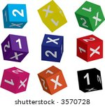 dices for betting | Shutterstock .eps vector #3570728