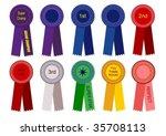 award ribbons  grand  1st  2nd  ... | Shutterstock .eps vector #35708113