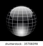 dynamic chrome sphere with... | Shutterstock . vector #35708398