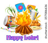 Illustration Of Happy Lohri...