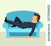 simple cartoon of a businessman ...   Shutterstock . vector #357099602