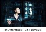 attractive smiling...   Shutterstock . vector #357109898