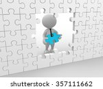 3d people   man  person with a... | Shutterstock . vector #357111662