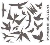 collection of bird shapes in... | Shutterstock .eps vector #357112766