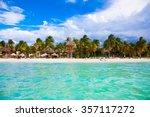 norten beach on colorful isla...   Shutterstock . vector #357117272