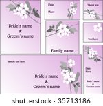 emo wedding cards | Shutterstock .eps vector #35713186