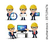 people set   profession  ... | Shutterstock .eps vector #357139676