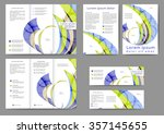 set of colored abstract... | Shutterstock .eps vector #357145655