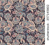 seamless paisley pattern in... | Shutterstock .eps vector #357145802