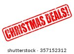 christmas deals red stamp text... | Shutterstock .eps vector #357152312