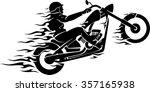 Chopper Rider Flaming Trail