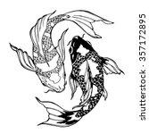 Illustration Of Koi Carp ...