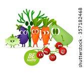 a set of cute vegetables.... | Shutterstock .eps vector #357182468