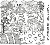 pattern for coloring book with... | Shutterstock .eps vector #357188972