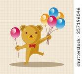 amusement park doll performer... | Shutterstock .eps vector #357196046