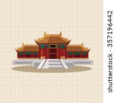 chinese building theme elements | Shutterstock .eps vector #357196442