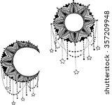 vector beautiful deco black... | Shutterstock .eps vector #357209948