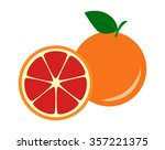 fruit red grapefruit | Shutterstock .eps vector #357221375