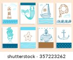 hand drawn sea icons cartoon... | Shutterstock .eps vector #357223262
