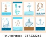 hand drawn sea icons cartoon... | Shutterstock .eps vector #357223268