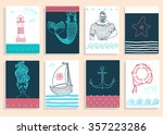 hand drawn sea icons cartoon... | Shutterstock .eps vector #357223286