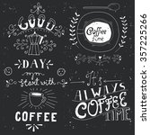 coffee time  typography ... | Shutterstock .eps vector #357225266