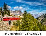 Beautiful View Of Red Train...
