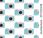 seamless doodle pattern. camera.... | Shutterstock .eps vector #357235238