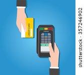 credit card flat design | Shutterstock .eps vector #357246902