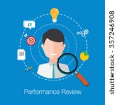 employee performance review | Shutterstock .eps vector #357246908