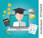 education finance flat design | Shutterstock .eps vector #357246926