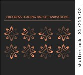 loading icons animations | Shutterstock .eps vector #357251702