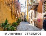 walking the ancient streets and ... | Shutterstock . vector #357252908