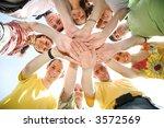 people hands sky | Shutterstock . vector #3572569