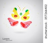 abstract butterfly shape.... | Shutterstock .eps vector #357266402