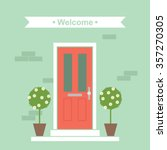 front door house exterior... | Shutterstock .eps vector #357270305